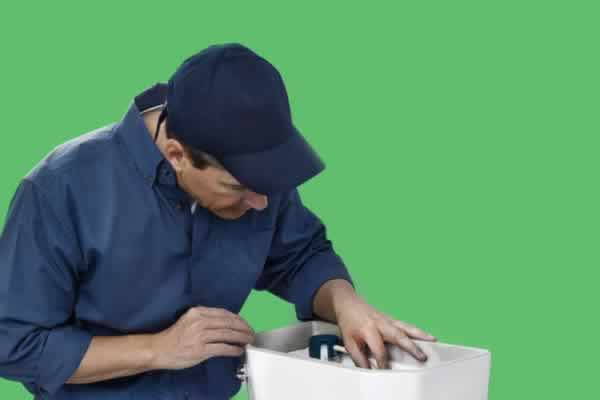 Image of a traditional plumber